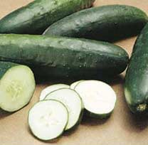 Slice cucumber for pickling